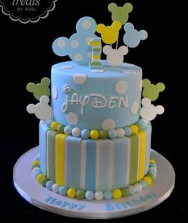 Sugar Fondant icing & deco 2 tires cake